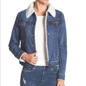 BCBGeneration Faux Shearling Lined Denim Jacket